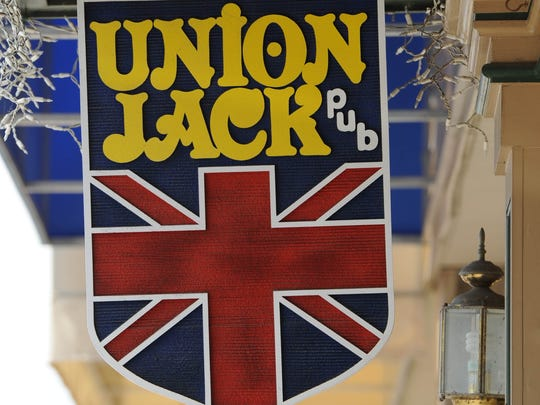"The Union Jack Pub, in Broad Ripple, is one of dozens of ""English pubs"" that sprang up in Indianapolis following the initial U.S. invasion of the English in 1964. ""Pints"" are ""drawn"" at such places, and sometimes darts are thrown."