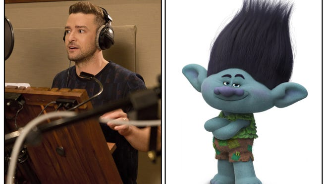 """Justin Timberlake voices Branch in """"Trolls.'"""
