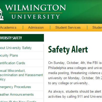 Local universities are warning of an unspecified threat