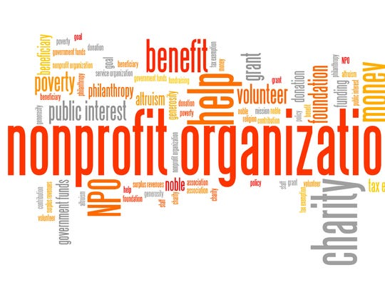 Nonprofit organizations issues and concepts word cloud