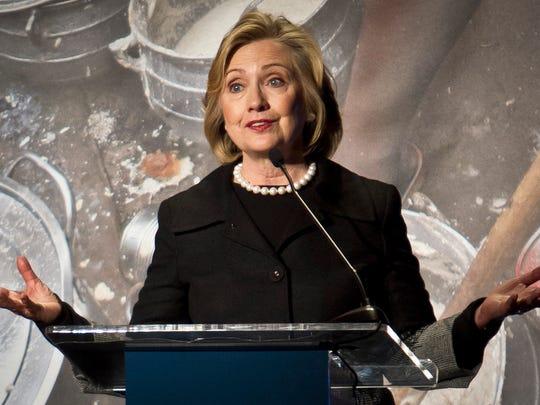 Hillary Rodham Clinton, former US Secretary of State,