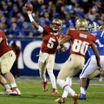 Heisman Trophy winner Jameis Winston (5) will look to lead Florida State back to the national championship this season.