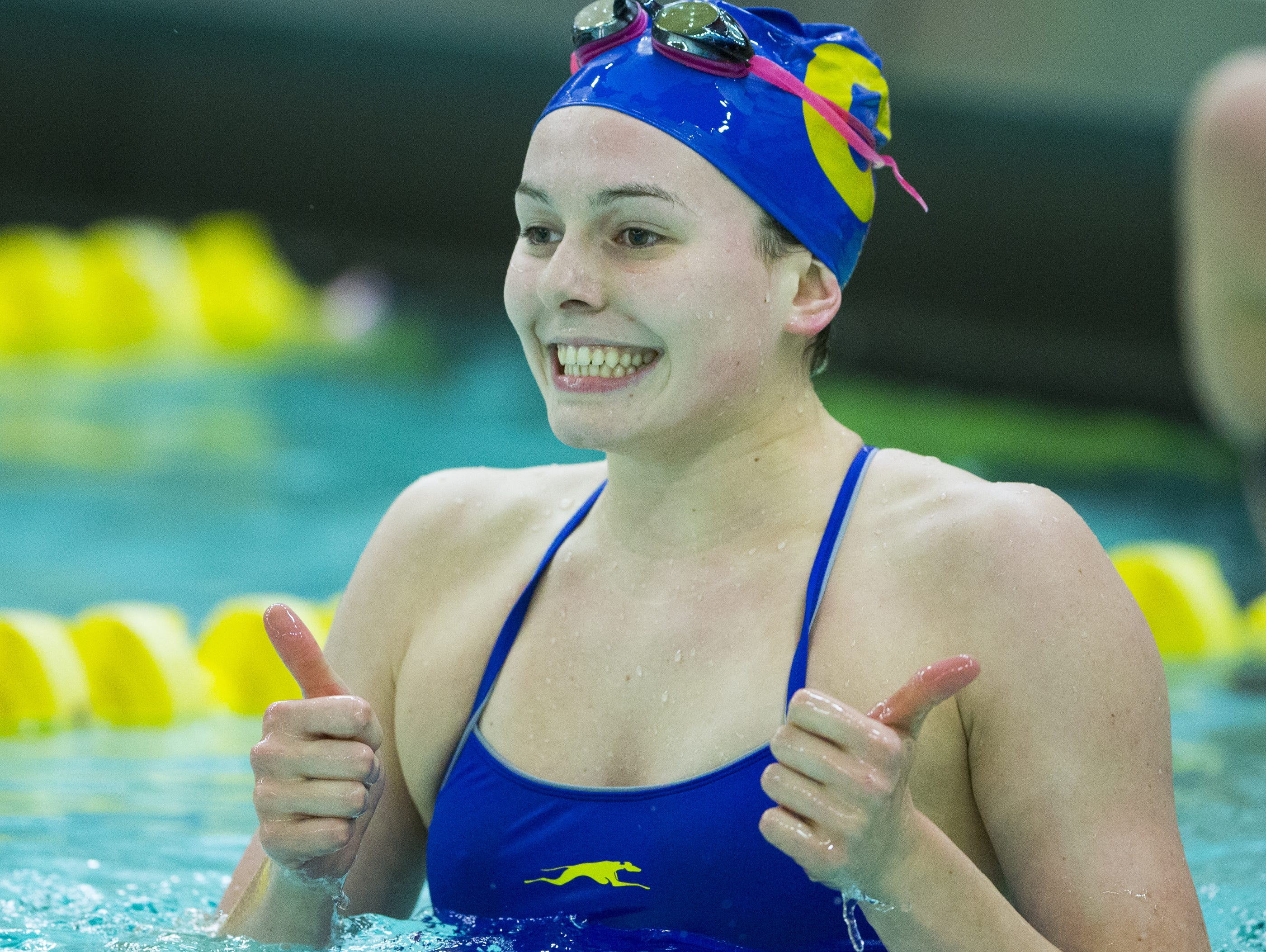 Olympic hopeful Claire Adams has an extra gear when competing, her coach says.