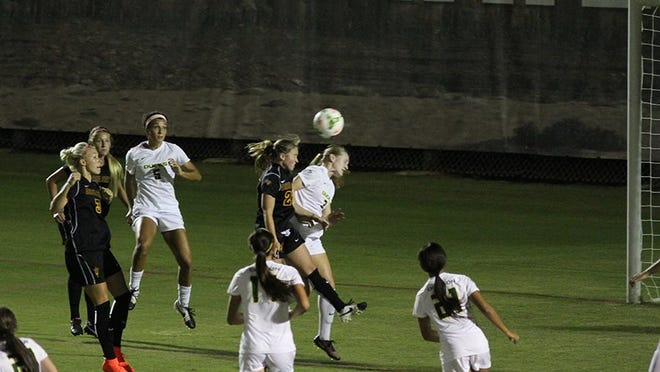 Aly Moon headed in the game-tying goal Friday night as No. 18 Arizona State soccer extended its unbeaten streak to eight matches with a 1-1 draw against Oregon.