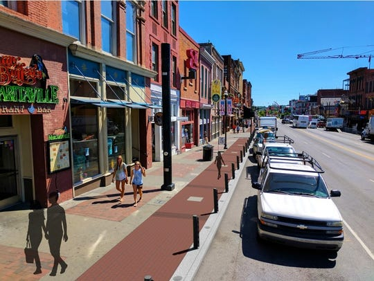 After look at Lower Broadway sidewalk visualizations