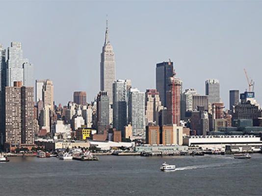 The Manhattan skyline taken on August 9, 2017