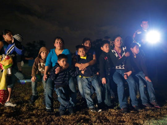 Central America immigrants apprehended crossing the