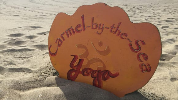 Carmel Calcagno, owner of Yoga Anjali in Belmar, offers free yoga on the beach at 7:30 a.m. daily at East End beach in Avon.