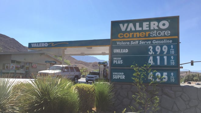 The Highway 111 Valero in Rancho Mirage has some of the most expensive gas in the Coachella Valley with a price of 3.99 per gallon as of Tuesday afternoon.