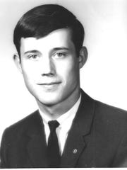 Kiwanis Key Club member Mark Hutchins, maybe 15, pictured on Nov. 3, 1965.