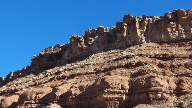 Cliffs at Little Black Mountain Petroglyph Site, AZ - November 5, 2014