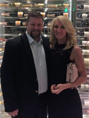 Anniversary celebration Andy and Johnna Blake recently celebrated their 17th wedding anniversary with an evening to remember at Mr. Chow in Las Vegas. A Champagne Trolley and Beijing Duck were highlights of the sumptuous evening.