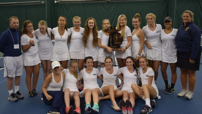 Bloomfield Hills Academy of the Sacred Heart captured its third girls tennis state championship in the past four years May 30 in Holland. Sacred Heart's head coach is Judy Hehs, assisted by Jim Slaughter.