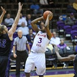 Devonte Hall and the Northwestern State Demons play at Stephen F. Austin on Monday.