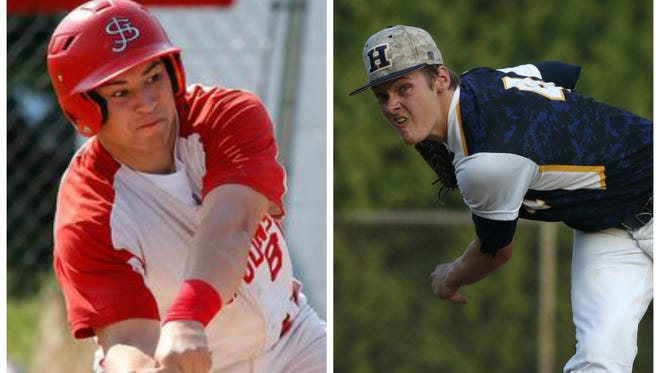 St. Johns' Avery Maurer and Haslett's Luke Sleeper will play in the Michigan High School Baseball Coaches Association all-star game Wednesday night at Comerica Park.