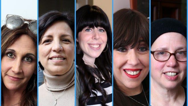 From left: Bassie Friedman; Sara Fuerst; Elana Straus; Rivkie Feiner; Eileen Grossman