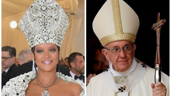 Rihanna took style notes from Pope Francis for her