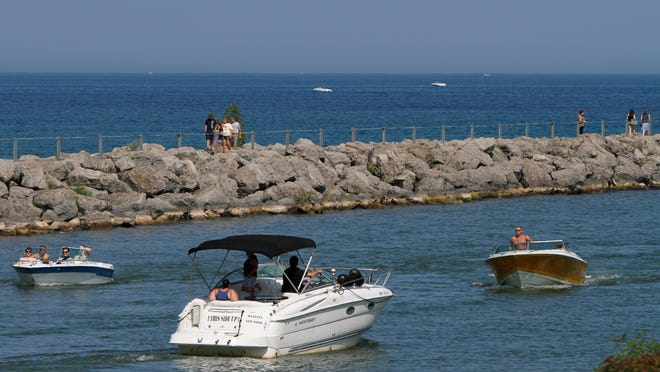 Boat traffic was steady through the Irondequoit Bay outlet in Webster in 2014.