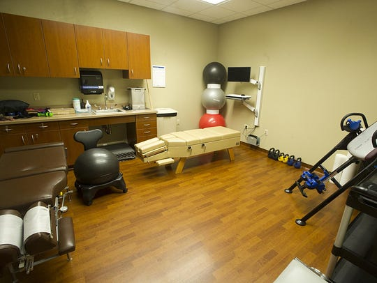 A room in the new Agnesian chiropractic care center