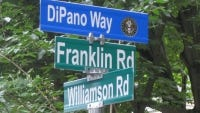 A ceremony was held in June in which a secondary street sign honoring World War II veteran Lawrence Raymond DiPano Sr. was unveiled in North Brunswick.