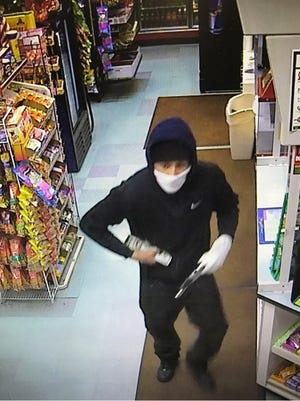 Delaware State Police are searching for this man, who they say robbed the Shawnee Country Store in Milford on Friday, Feb. 10.
