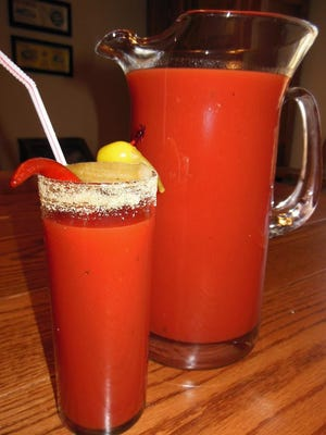 Spicy Bloody Marias.