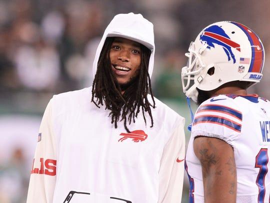 Buffalo Bills wide receiver Kelvin Benjamin (left)