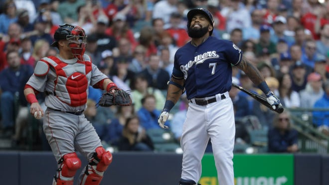 Eric Thames was out of the lineup again due to strep throat.
