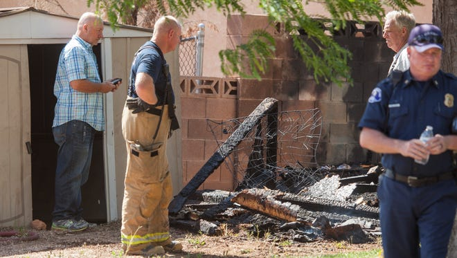 The St. George Fire Department responds to a structure fire on 1900 West near Dixie Downs Road Tuesday, June 7, 2016.