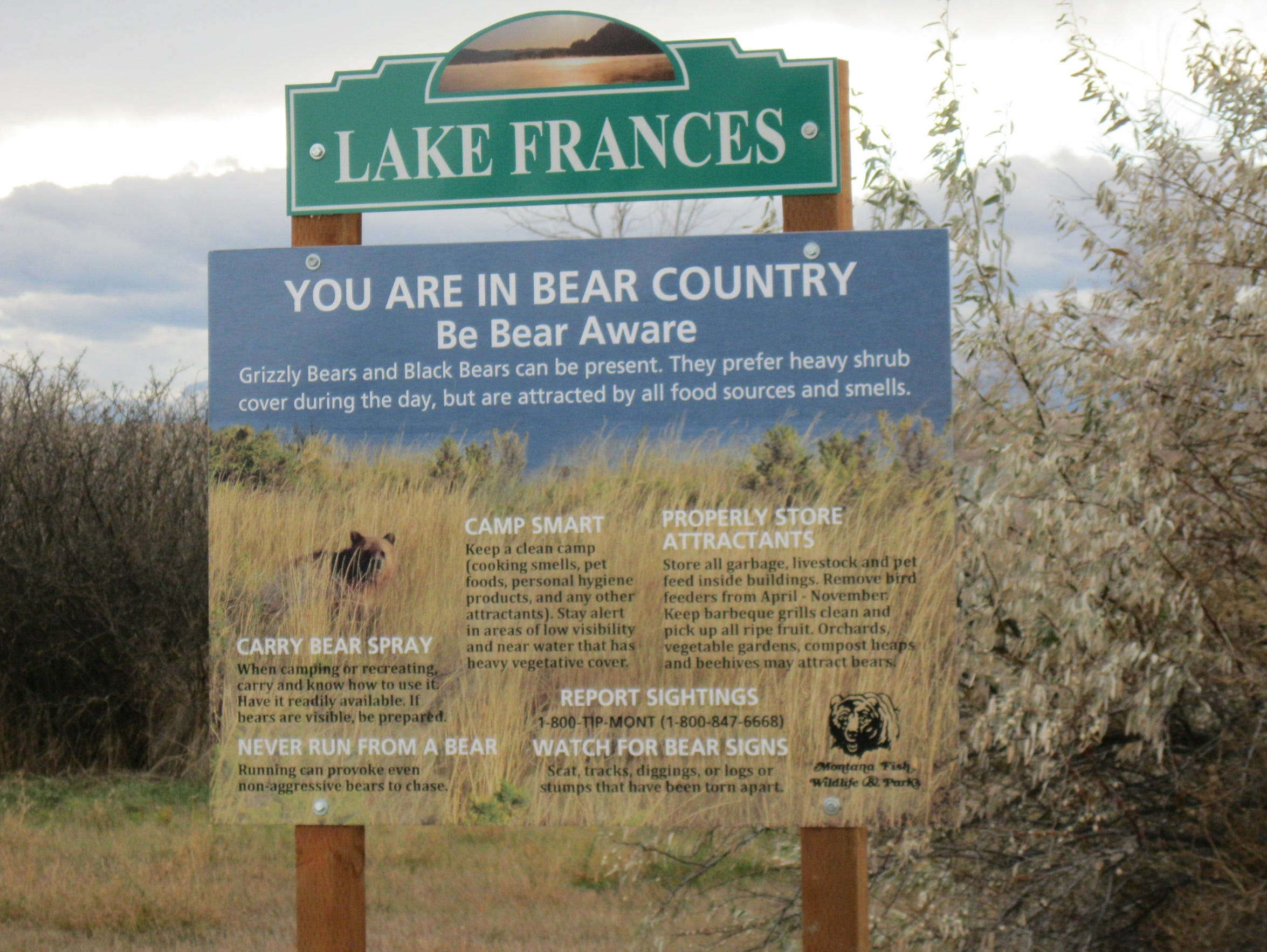 Montana Fish, Wildlife and Parks has erected new signs