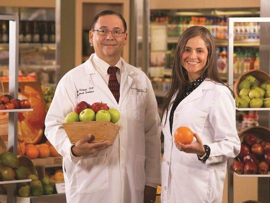 Medical Center dietitians Felix Santiago, RD, and Barbra