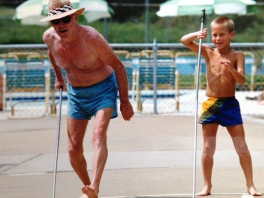 Howard Fleming, left, and grandson