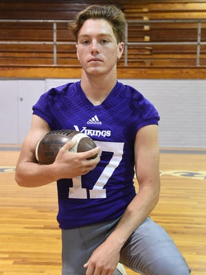 Logan Warren, senior strong safety and backup quarterback for Opelousas Catholic, expects the Vikings to improve on both sides of the ball this season.