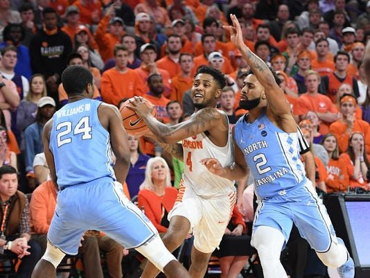 basketball, 2018, clemson, unc,, north carolina
