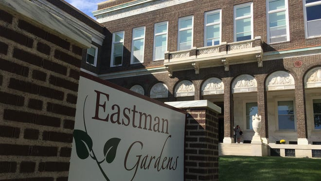 Eastman Gardens, formerly the Eastman Dental Dispensary in the Marketview Heights district.