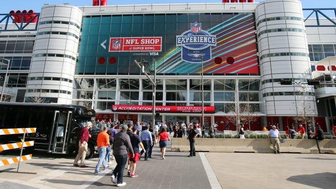 Pre-Super Bowl fans in Houston on Feb. 1, 2017.