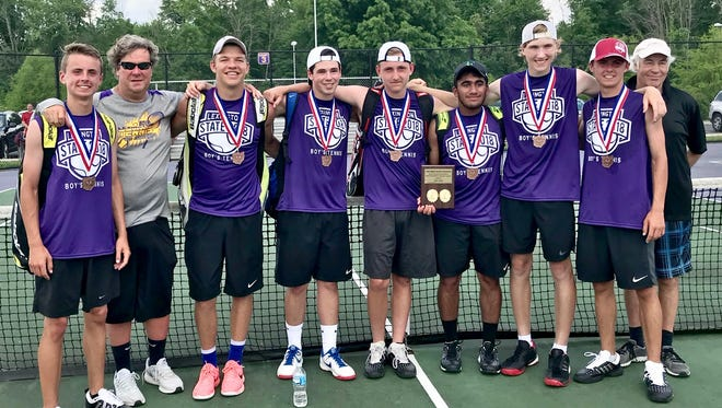 Medals around their necks, the Lexington Minutemen were the Northwest District's representative in the Final Four of the Ohio Tennis Coaches Association team tournament.