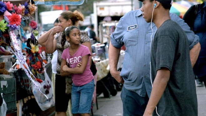 """A partial screen shot from James Nares' 'STREET"""" (2012)."""