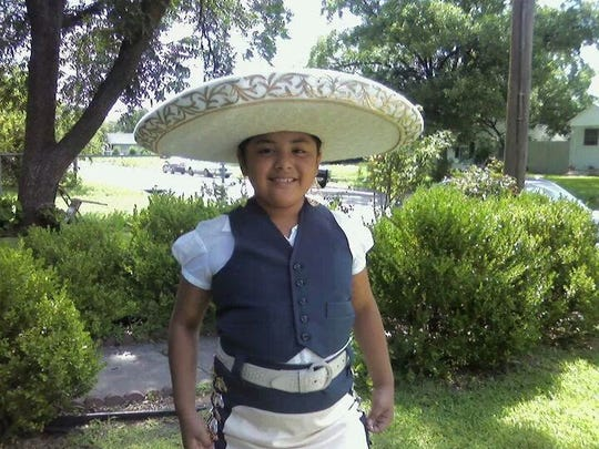 Belen Hernandez at age 7.