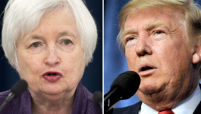 Donald Trump's election raised questions about tentative plans by Federal Reserve Chair Janet Yellen and other Fed officials to raise interest rates next month.