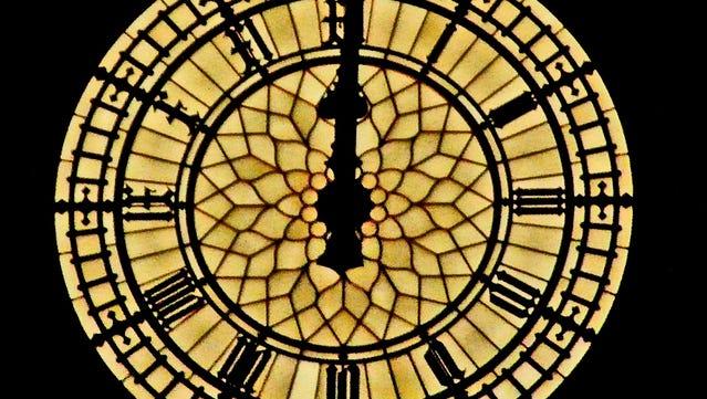 Big Ben strikes midnight
