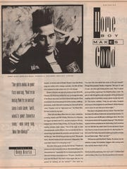A feature on Kid Rock in a 1991 issue of Orbit, an early supporter of the Detroit musician.