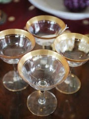 Designer Consignor is a resale furniture store located at 29764 Woodward Ave. in Royal Oak. This set of four champagne glasses is selling for $8.