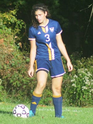 Eastern Christian senior Christina Piluso is one of the stalwarts on defense for the Lady Eagles.