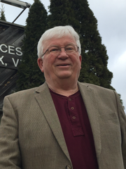Pat Scheidel, 71, stands next to the Essex municipal