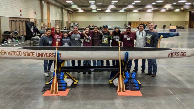 The New Mexico State University concrete canoe team won top honors at the American Society of Civil Engineers 2018 Rocky Mountain Student Conference Region 8 in early April and will compete in the national competition in San Diego in June.