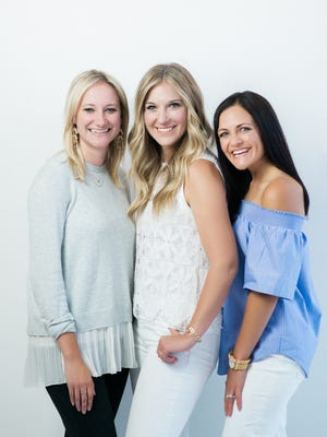 Heidi Nowitzke (left), Kasey Greenheck (center) and Kelsy McCartney are the self-employed women and self-described creatives behind a group for women entrepreneurs launched Feb. 1, 2017.