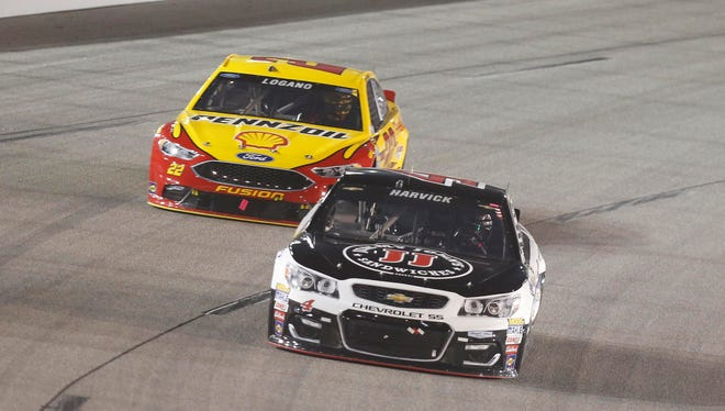 """""""You have to be 100%,"""" Joey Logano, trailing Kevin Harvick, said about the second round of the Chase. """"You can't make a mistake. The pressure is going to ratchet up for that reason."""""""