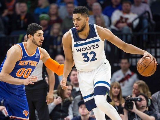 Jan 12, 2018; Minneapolis, MN, USA; Minnesota Timberwolves