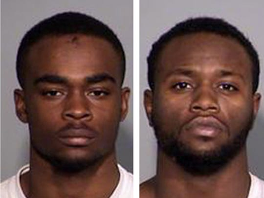 Larry Taylor Jr., 18, left; and Jalen Watson, 21, are
